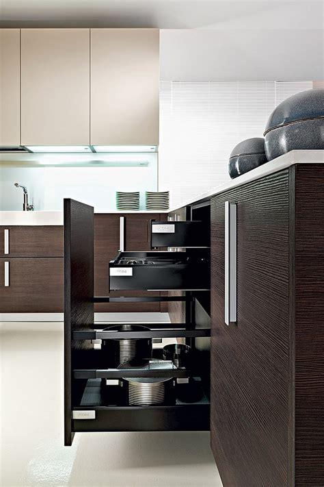 innovative contemporary kitchen  efficinet storage