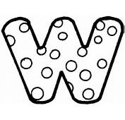 Letter W Coloring Page  SuperColoringcom