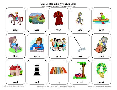 printable articulation cards testy yet trying initial r free speech therapy