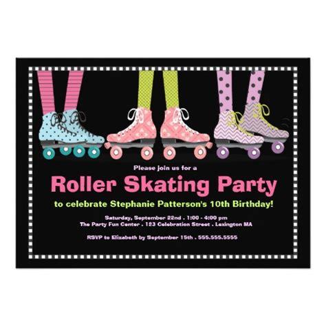 Skating Birthday Card Template by Funky Roller Skating Birthday Invitation Card