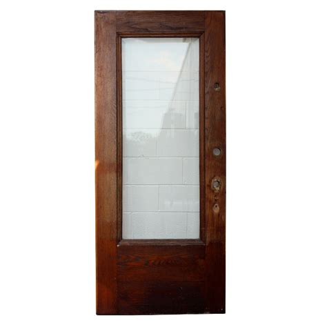 36 Exterior Door With Window Antique Stained Oak Entry Door With Beveled Glass 36 X 84 Ned59 For Sale Antiques