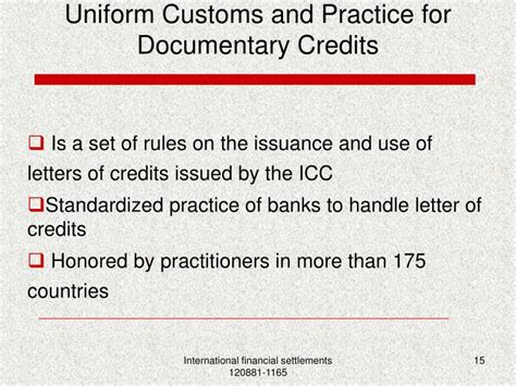 Letter Of Credit Customs And Practice Ppt The Documentary Credit Powerpoint Presentation Id 4087425