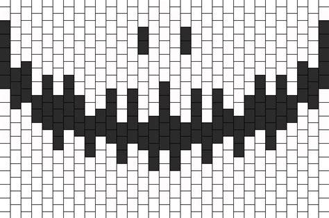 kandi pattern generator smiling skeleton mask bead pattern kandi pinterest