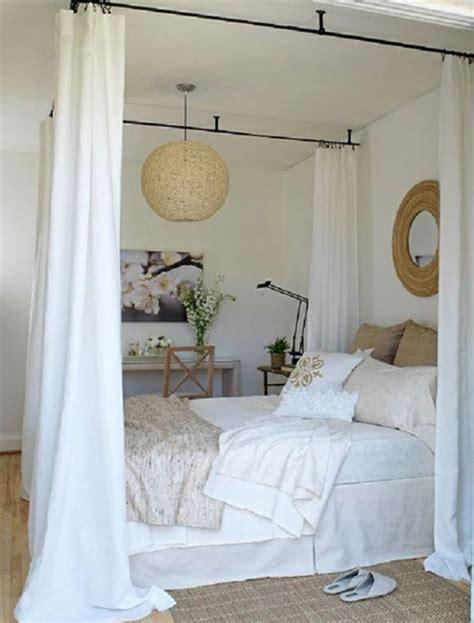 how to hang curtains around bed 33 erstaunliche wei 223 e himmelbett designs f 252 r ihr schlafzimmer