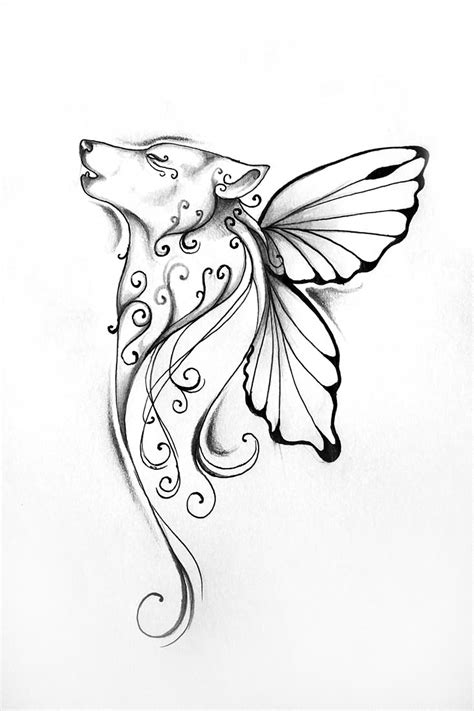 butterfly wings tattoo designs wolf tattoos designs ideas and meaning tattoos for you