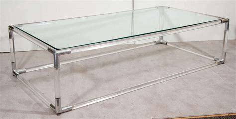 lucite and chrome terrarium coffee table at 1stdibs mid century lucite and chrome rectangular coffee table w