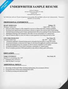 about sample underwriter resumes