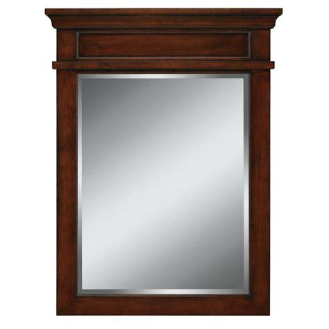 shop allen roth hartley        mink rectangular bathroom mirror  lowescom