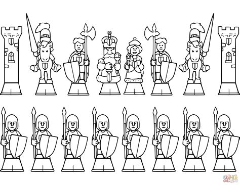 chess king coloring page all chess pieces coloring page free printable coloring pages