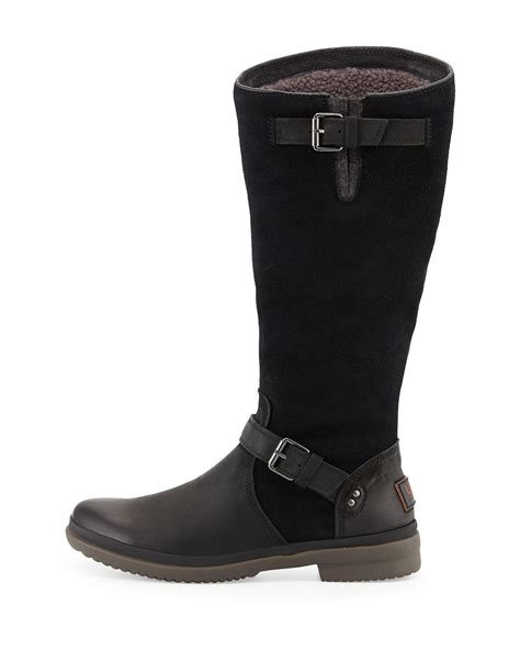 ugg thomsen weather resistant suede and leather boots in