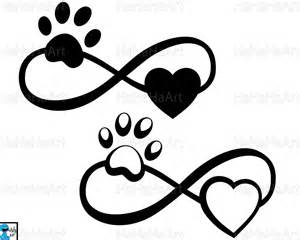 Paw Print Infinity Infinity With Paw And Cutting Files Clipart Svg Png