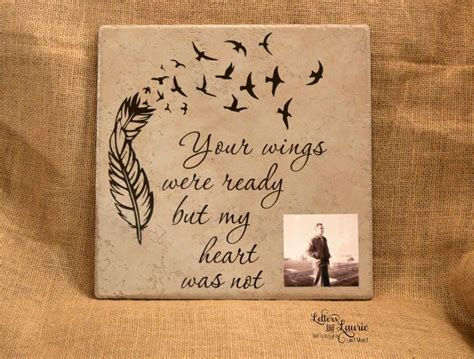 memorial gifts in loving memory gift your wings were ready memorial gift loss of a loved one