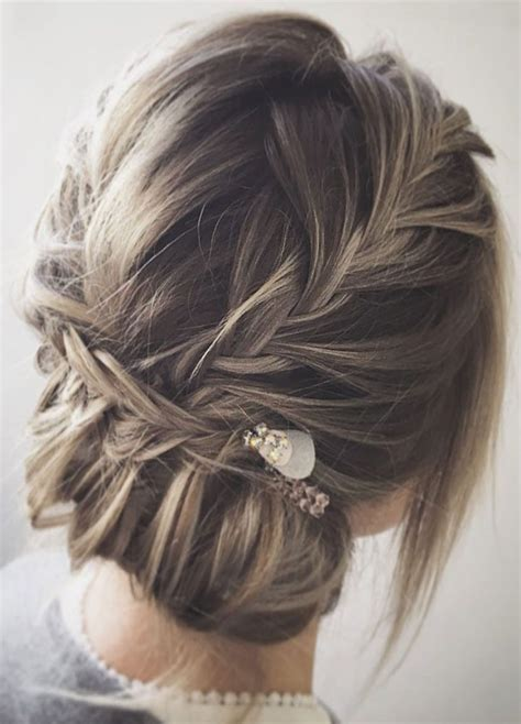 this braid with updo wedding hairstyle for boho