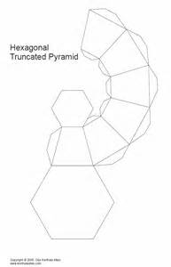 paper truncated pyramids of the same height