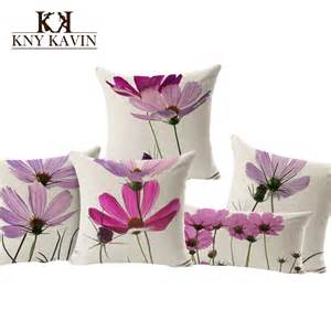 partysu style purple flowers cushions home decor pillows