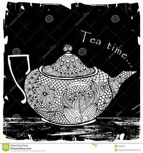 Tea Time Illustration Stock Photography   Image: 32386212