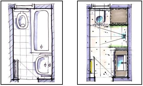 platzbedarf wc und bidet badplanung kleines bad unter 4m 178 badraumwunder wiesbaden