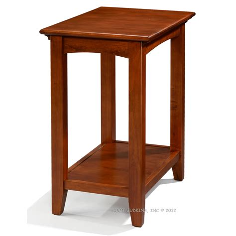 Accent End Table Hoot Judkins Alder Wood Table Shelf Antique Cherry Glazed