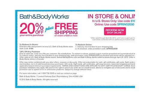 body and bath store coupons