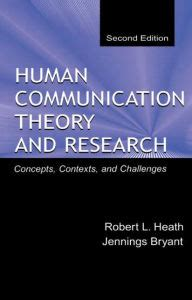 Human Communication Theory Comparative Essays by Human Communication Theory And Research Concepts Contexts And Challenges Edition 2 By