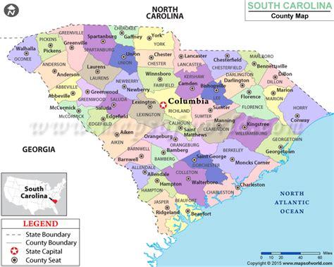 south carolina cities map buy south carolina county map