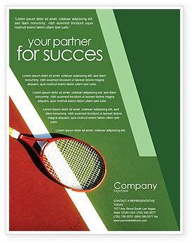 nice green colored tennis rackets flyer template http