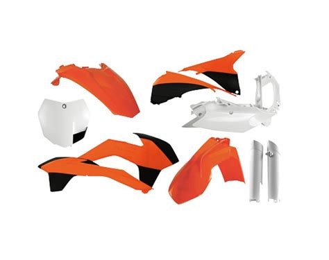 Ktm Plastics Kits Plastic Kit For Ktm By Acerbis Slavens Racing