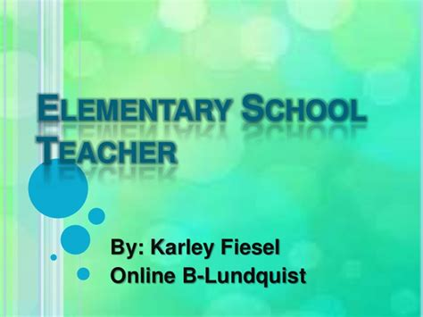 powerpoint tutorial for elementary students elementary school teacher power point