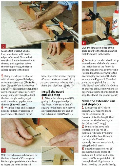 build a table saw sled table saw crosscut sled plans woodarchivist