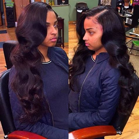 sew in hairstyles with side parts 25 side part sew in styles and how to sew in tutorial