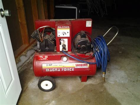 sanborn  hp magna force  scfm  psi air compressor