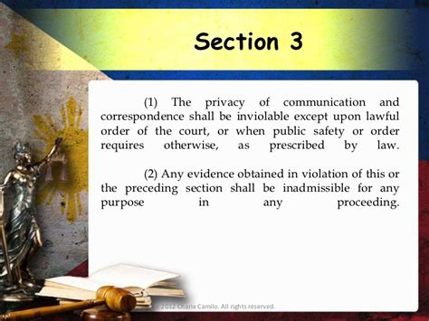 bill of rights section 3 philippine constitution 1987 article 3 bill of rights