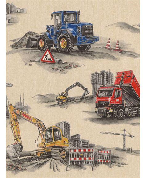 kinderzimmer bordure bagger rasch tapete baustelle bagger bulldozer kran www 4 haen de