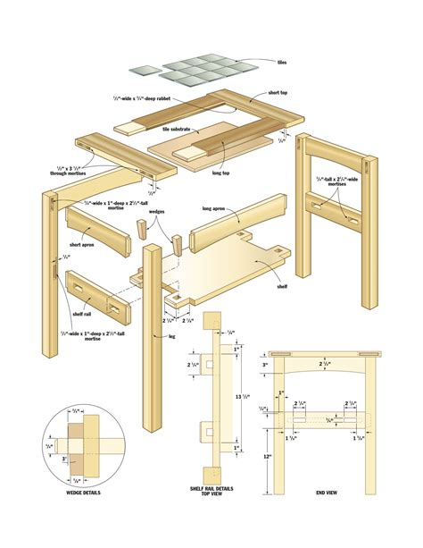 woodworking plans side table pdf diy woodworking projects mission garage shop