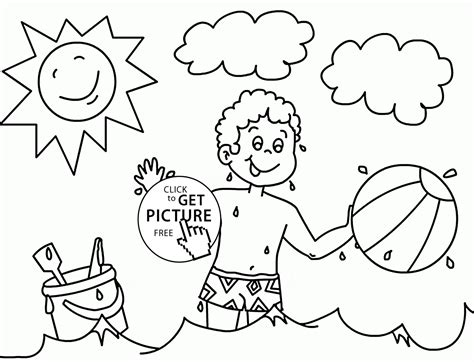 Summer Coloring Pages For Kindergarten by Free Summer Coloring Sheets For Kindergarten Summer