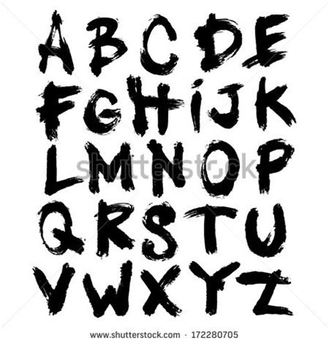 Font Acrylic painted alphabet stock images royalty free images