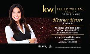 keller williams real estate business cards keller williams business card glitter design