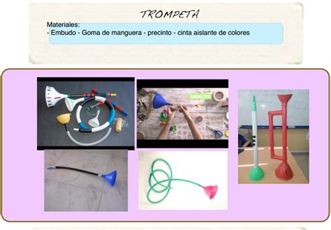 trompeta de reciclaje trompeta de material reciclado palo de lluvia youtube