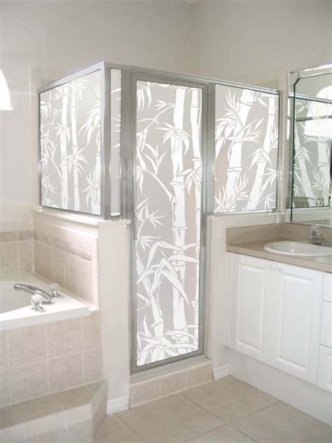 Privacy Glass Shower Doors Big Bamboo Privacy Shown On A Shower Enclosure Looks For Your Windows And Doors