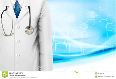 medical background with a doctors lab white coat royalty