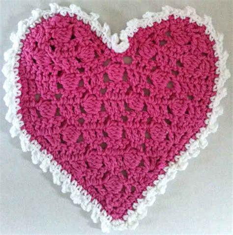 crochet pattern heart dishcloth crochet pattern for heart dishcloth free patterns for