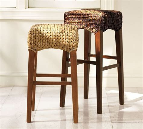 pottery barn seagrass bar stool roundup rattan dining chairs popsugar home