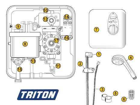 triton microswitch triton 22012460 national shower spares