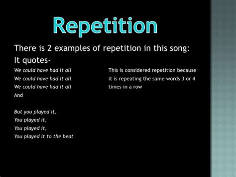 repetition examples alisen berde