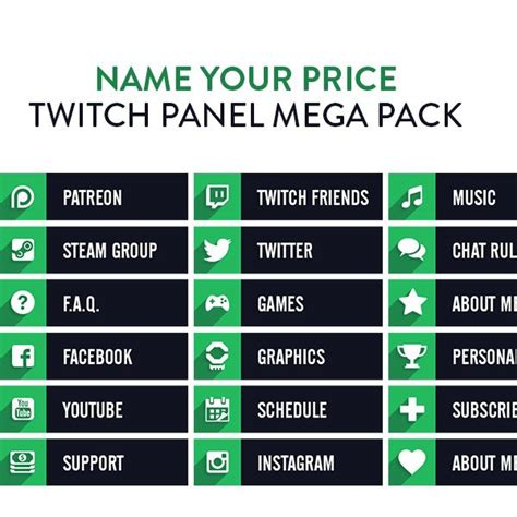 Free App To Design Your Own Home by Twitch Panel Mega Pack Nerd Or Die