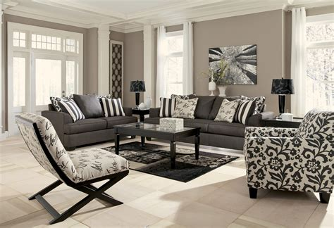 Charcoal Living Room Furniture Buy Levon Charcoal Living Room Set By Signature Design