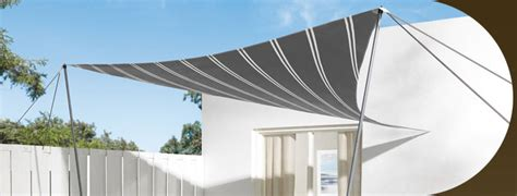 Schaduwdoek Bevestigen Aan Schutting by Schaduwdoek Vigo Stripes Paviljoens En Overkappingen