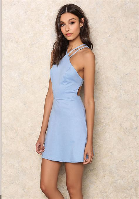 Mini Dress Baby by Junior Clothing Baby Blue Cut Out Mini Dress