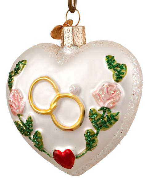 wedding heart personalized ornament