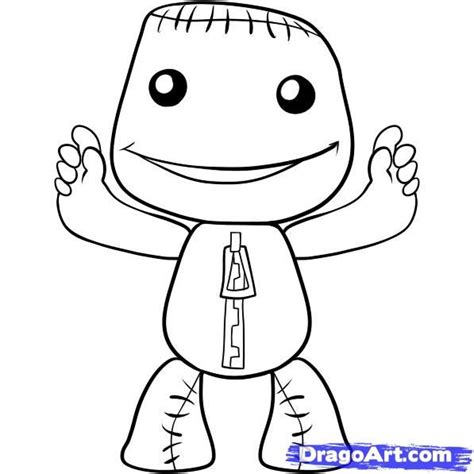 little big planet coloring pages coloring home